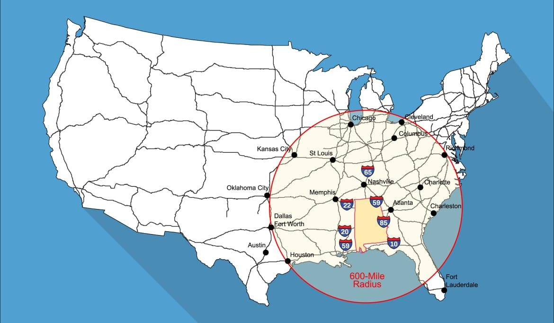 EDPA interstate map